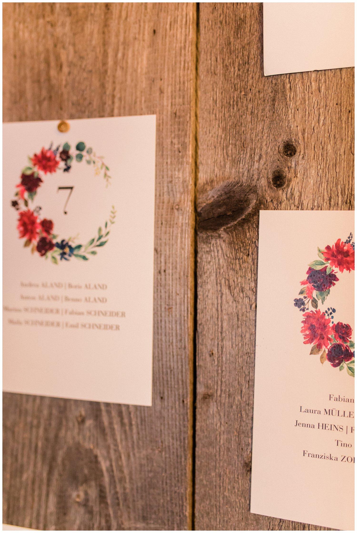 Sitzordnung Hochzeit Cotton Bird